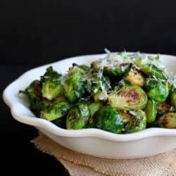 Sautéed Lemon & Garlic Brussels Sprouts Recipe