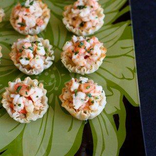 Mini Sherry Shrimp & Tarragon Phyllo Bites
