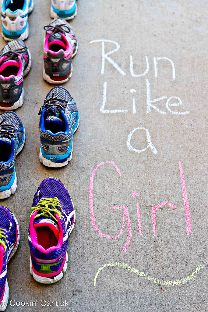 Run Like a Girl: Lacing Up Together | cookincanuck.com #running #exercise #fitness #HealthyNewYear