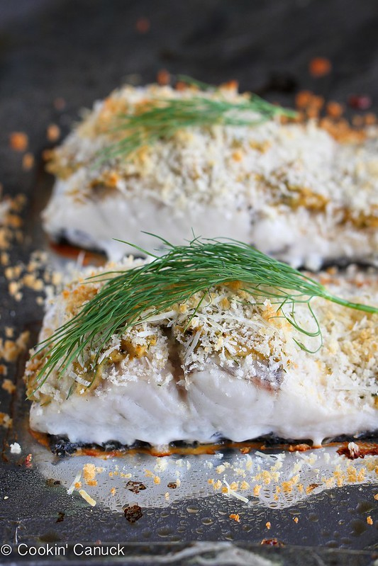 Hummus-Crusted Baked Fish Recipe {Barramundi} | cookincanuck.com #recipe #fish