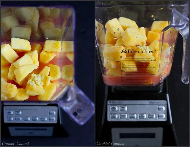 Pink Grapefruit, Pineapple & Ginger Sparkler | cookincanuck.com