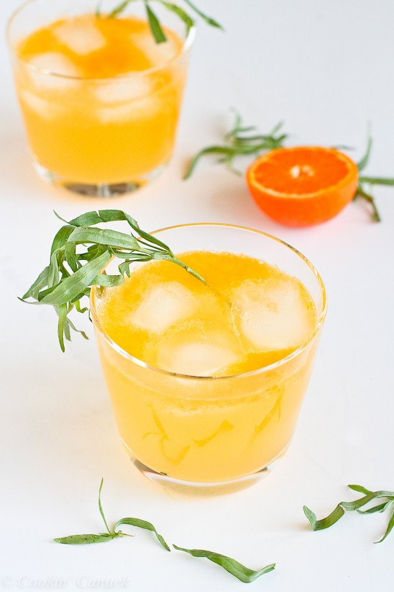 Clementine & Lemon Gin Cocktail...all natural sweeteners in this tasty drink!   cookincanuck.com