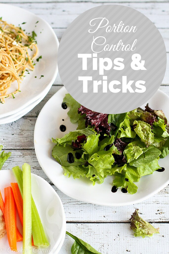 Portion Control Tips and Tricks for Healthy Living...Easy changes you can make! | cookincanuck.com