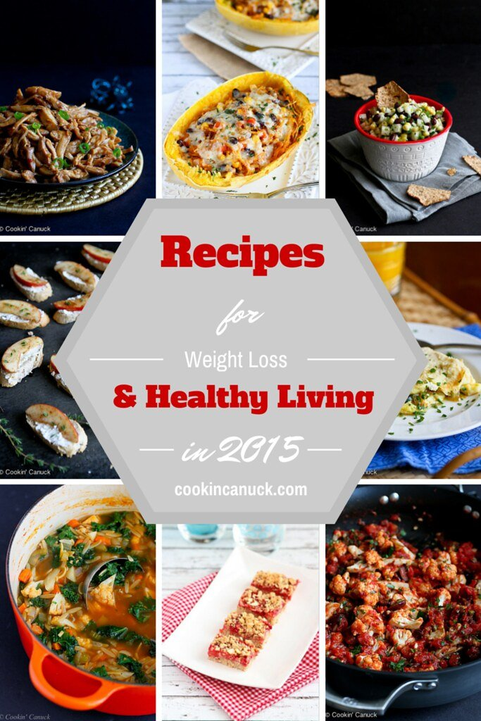 Recipes for Healthy Living and Weight Loss in 2015...from bloggers around the web! | cookincanuck.com