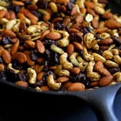 Curry Spiced Nuts with Dried Cherries