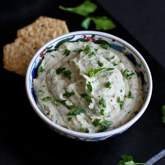 White Bean & Basil Hummus Recipe | Cookin' Canuck