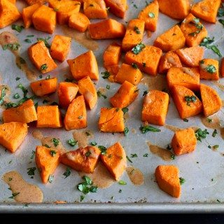 Roasted Sweet Potatoes with Almond Butter Sauce Recipe
