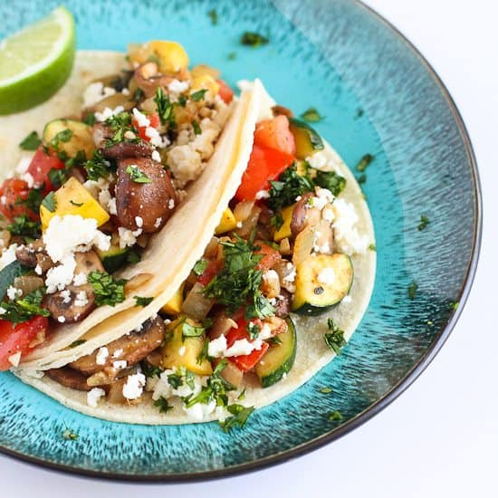 Easy Vegetable Soft Tacos Recipe | Cookin' Canuck