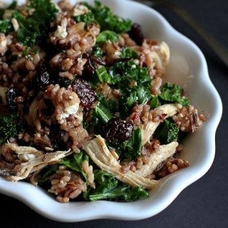 Wild Rice Salad with Chicken, Dried Cherries & Goat Cheese