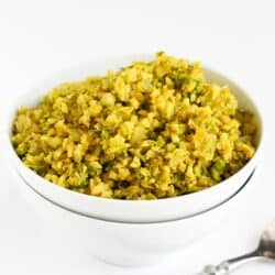 Curry Asparagus and Cauliflower Rice Recipe | cookincanuck.com