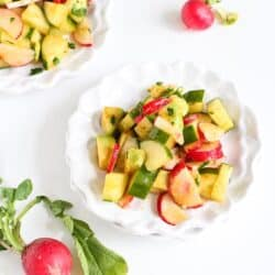 Smoky Cucumber, Radish & Avocado Salad Recipe | cookincanuck.com