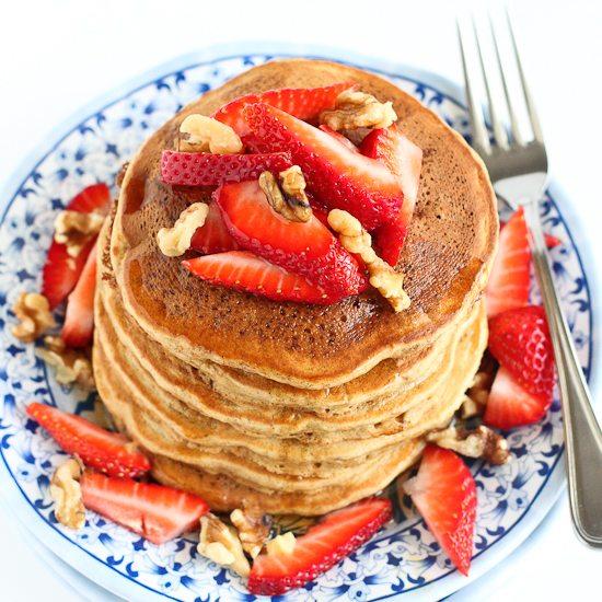 Whole Wheat Banana Flax Pancakes Recipe | Cookin' Canuck