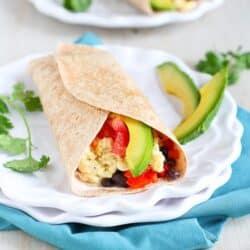 Healthy Breakfast Burrito with Chipotle Yogurt | cookincanuck.com
