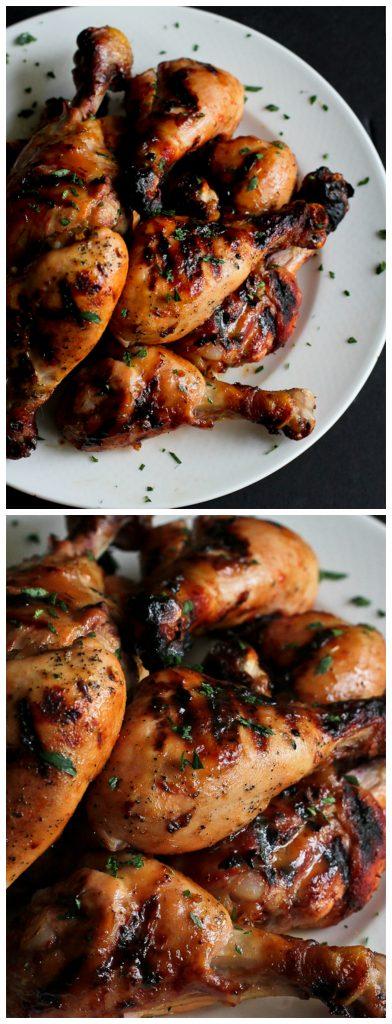 Grilled Maple Dijon & Chili Chicken Drumsticks Recipe ...