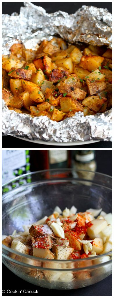 Grilled Potatoes Recipe with Rosemary and Smoked Paprika...99 calories ...
