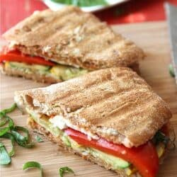 Grilled Italian Panini Recipe with Zucchini, Summer Squash & Basil ...
