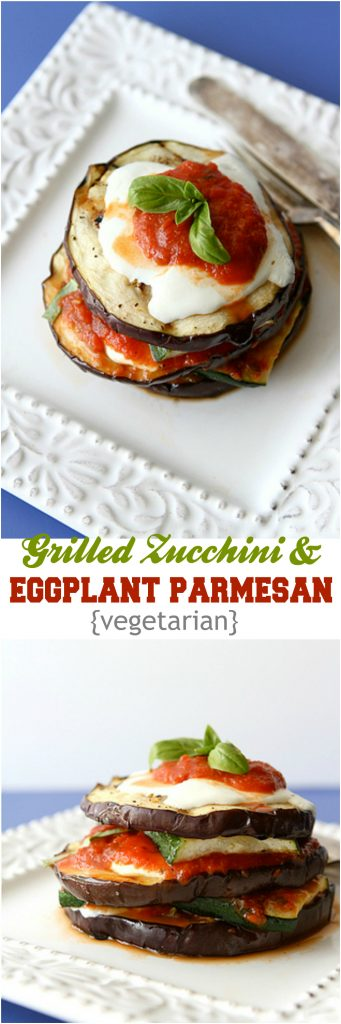 This Grilled Zucchini and Eggplant Parmesan recipe is a fantastic vegetarian option for your next barbecue. 216 calories and 5 Weight Watchers SmartPoints