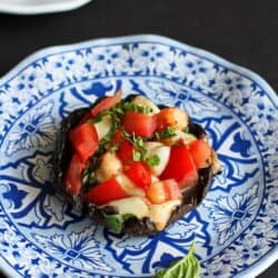 Grilled Caprese Stuffed Portobello Mushrooms Recipe