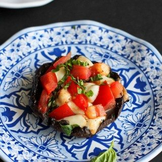 Grilled Caprese Stuffed Portobello Mushrooms Recipe