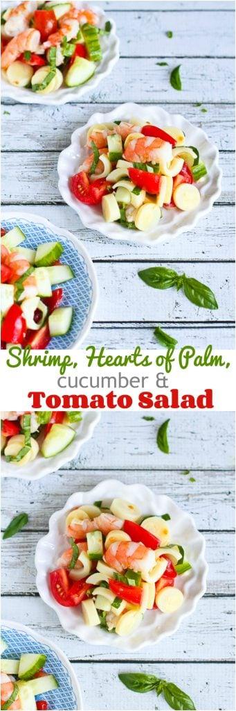 Shrimp, Hearts of Palm, Cucumber & Tomato Salad Recipe ...