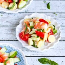 Shrimp, Hearts of Palm, Cucumber & Tomato Salad Recipe