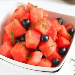 Watermelon and Blueberry Mojito Salad