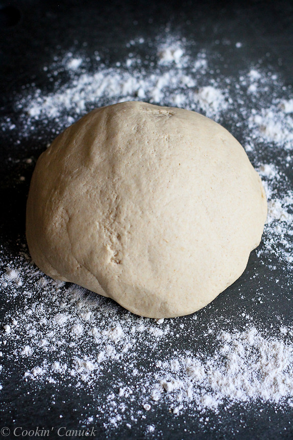 How to: Make Whole Wheat Pizza Dough…Perfect for homemade pizza night! | cookincanuck.com #recipe