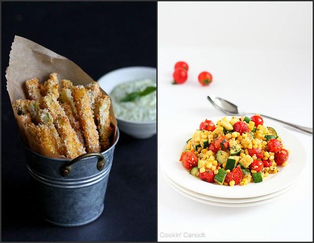Healthy Zucchini Recipes | cookincanuck.com #vegetarian