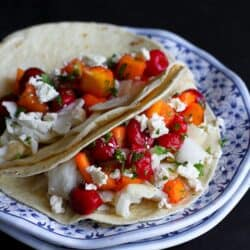 Fish Tacos with Tart Cherry & Mango Salsa Recipe