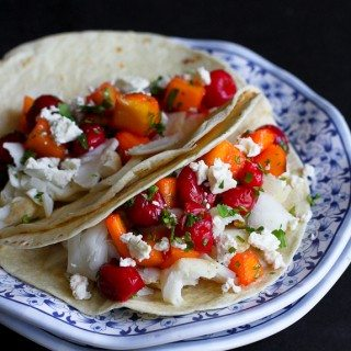 Fish Tacos with Tart Cherry & Mango Salsa Recipe