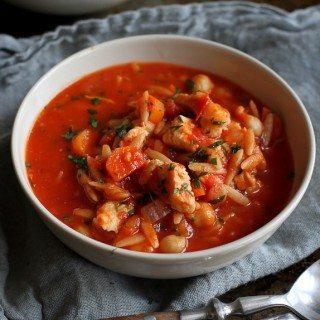 Easy Chicken, Tomato & Orzo Soup Recipe