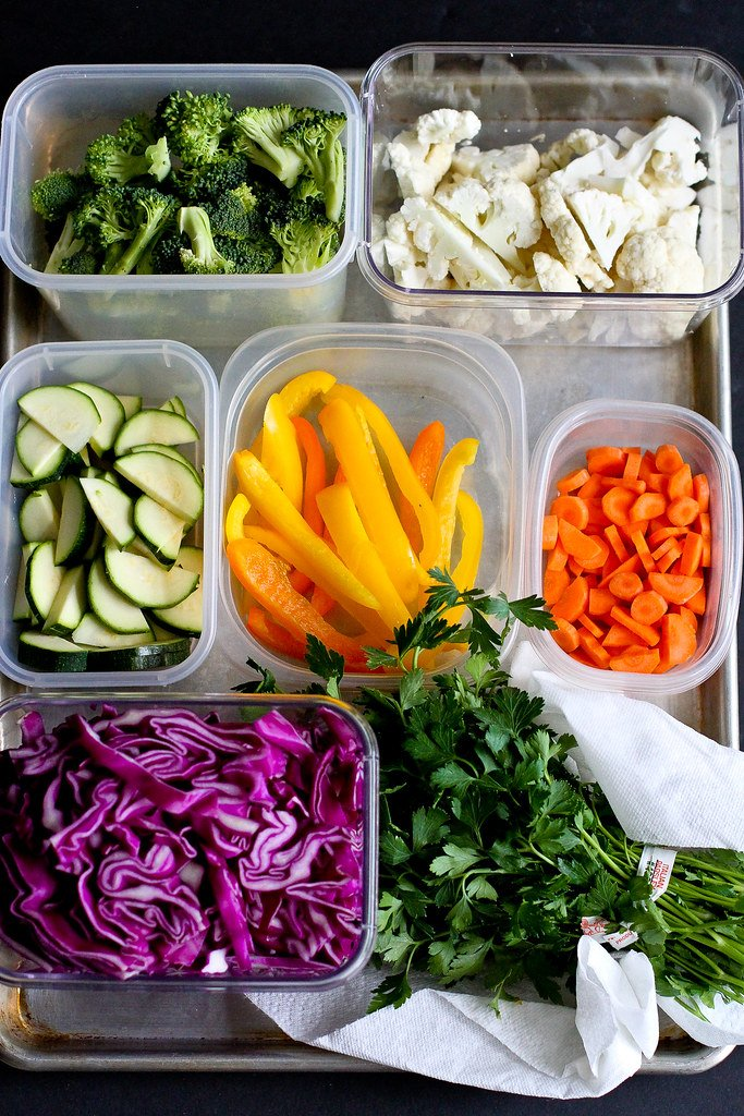 Meal Prep: Cutting Vegetables for the Week