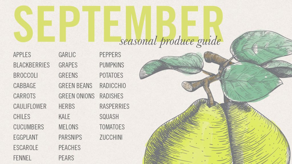 September #EatSeasonal Produce Guide