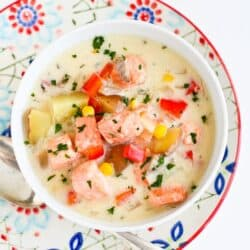 Light Salmon & Potato Chowder Recipe