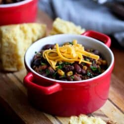 Slow Cooker 3-Bean Vegetarian Chili Recipe