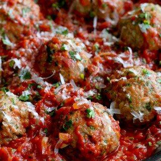 Italian Turkey Meatballs in Tomato Sauce Recipe