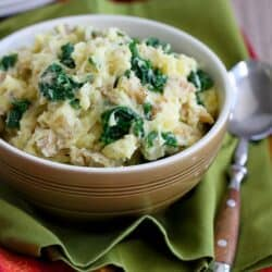 Light Mashed Potatoes with Kale & Goat Cheese