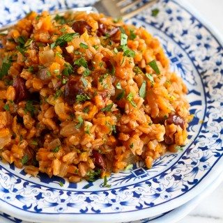 One-Pot Farro, Butternut Squash, & Dried Cherries Recipe