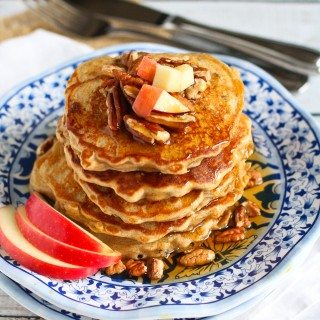 Whole Wheat Apple Spice Pancakes