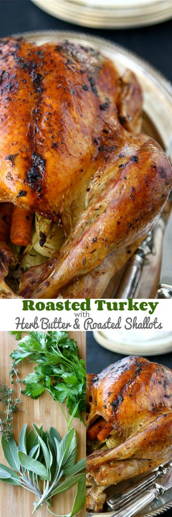 Roasted Turkey With Herb Butter & Roasted Shallots Recipe ...