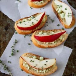 Easy Appetizer: Pear & Blue Cheese Crostini Recipe
