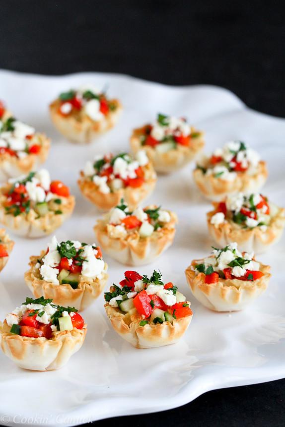 Mini Hummus Phyllo Bites