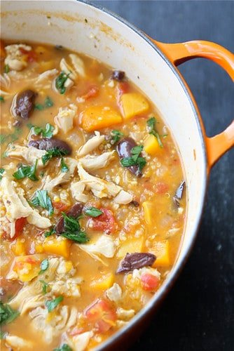 Hearty Chicken Stew with Butternut Squash & Quinoa...The most popular recipe on my site!   cookincanuck.com #healthy #glutenfree