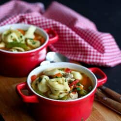 Italian Chicken & Vegetable Tortellini Soup Recipe