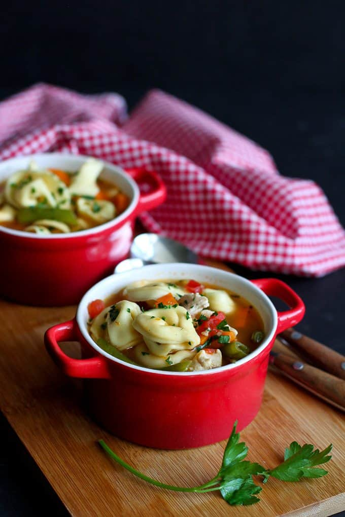 Italian Chicken & Vegetable Tortellini Soup Recipe - Cookin Canuck