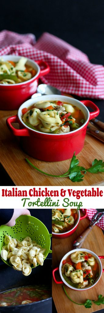 Italian Chicken & Vegetable Tortellini Soup Recipe…Comfort in a bowl ...
