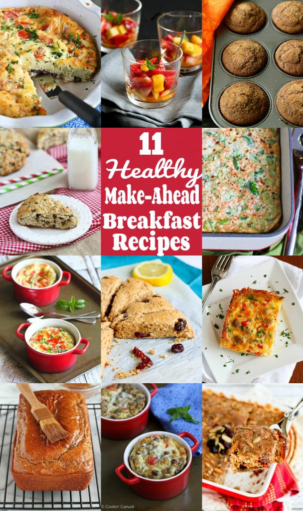 Make-Ahead Breakfast Recipes Collage