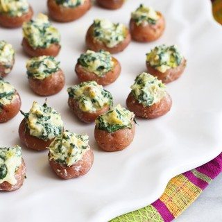Mini Spinach & Artichoke Stuffed Potatoes Recipe