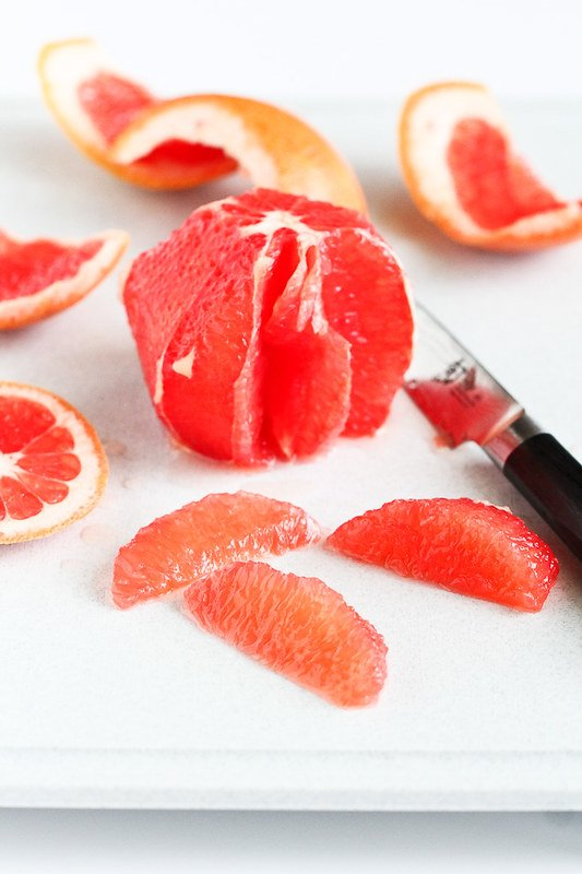 Pink Grapefruit with Honey Mint Syrup…A light and healthy snack or brunch recipe! 80 calories and 1 Weight Watcher SmartPoint