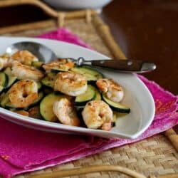 Shrimp & Zucchini Stir-Fry Recipe with Miso Lime Sauce